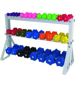 3 Tier Floor Rack for 20 Dumbbells