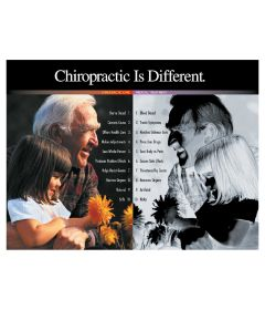 Chiropractic Is Different Poster, Laminated