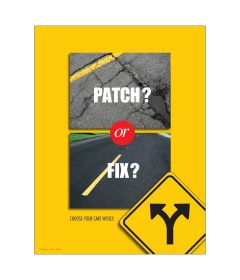 Patch or Fix Poster, Laminated