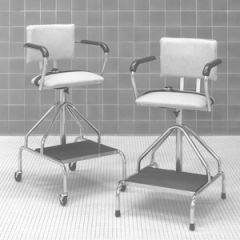"Hydrotherapy Chair (33""- 46.5"") with Casters"