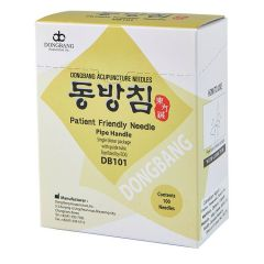 Dong Bang Acupuncture Needles - Pipe Handle - 100 per box