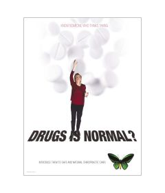 Drugs Is Normal Poster, Laminated