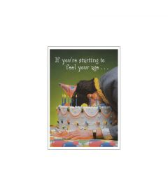 Feeling Your Age Birthday Postcard